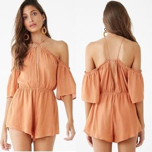 🧁5 for $25🧁 Forever 21 Peach Strappy Romper